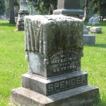 Headstone at Chippiannock Cemetery; Rock Island, IL