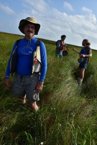 Walking on a coastal marsh (photo courtesy of John Ruskey)
