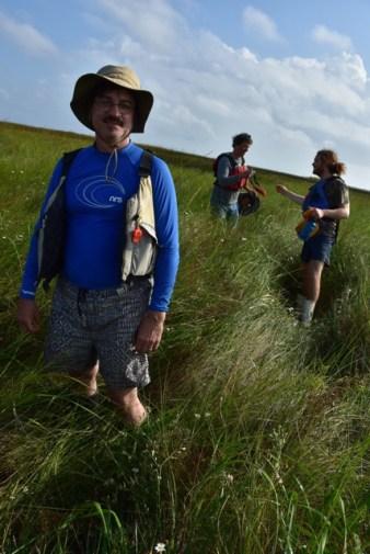 Walking on a coastal marsh (photo courtesy of John Ruskey)