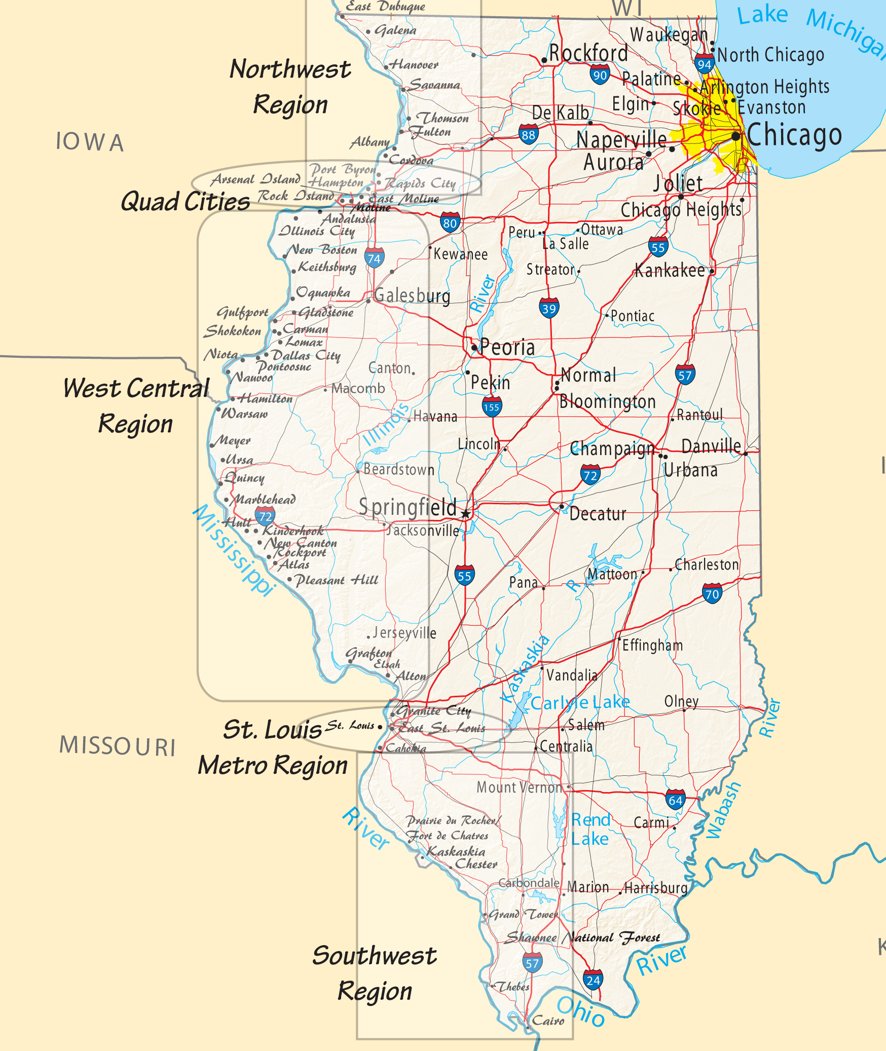 Map Of Ohio Rivers And Cities.Mississippi River Travel In Illinois