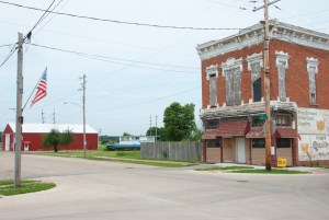 Keithsburg today, looking west toward the river from 4th & Main