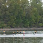 Stand-up paddle boarding at Minneapolis