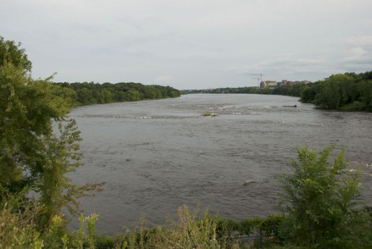 Remnants of the rapids at Sauk Rapids