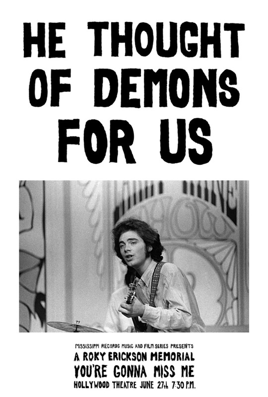 He Thought of Demons for Us Roky Erikson Postcard and Poster