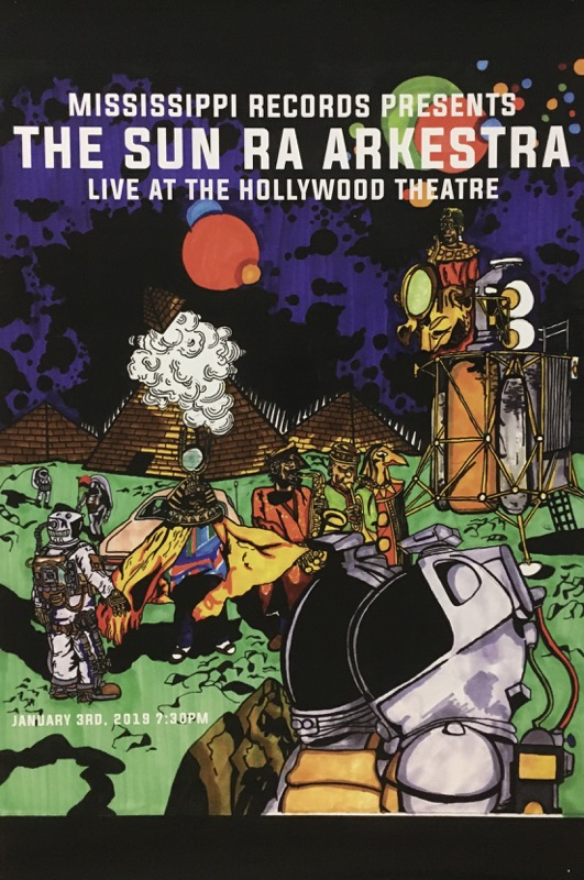 The Sun Ra Arkestra Live 1/3/19 Poster Version 2 (Used)