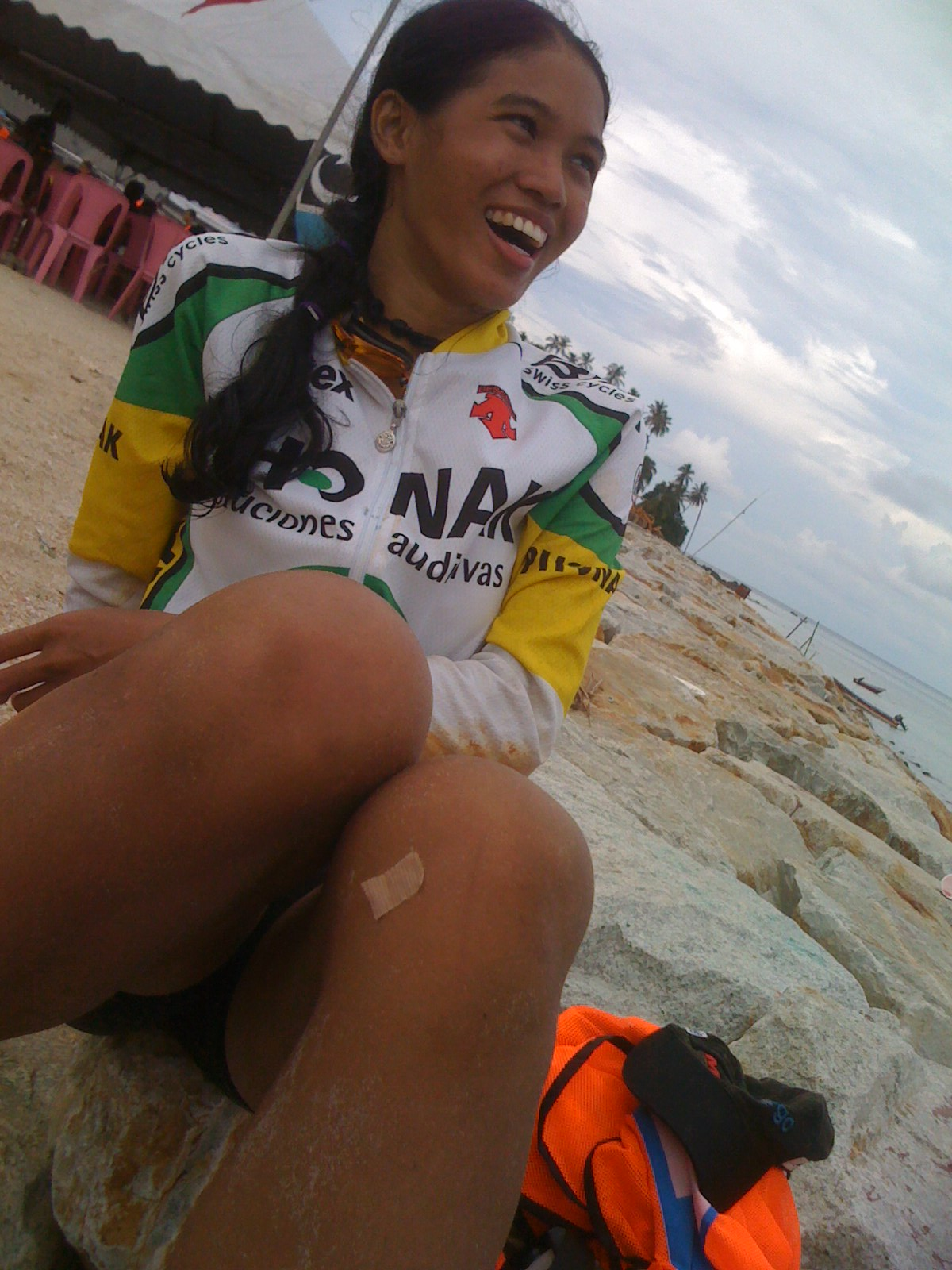 Candid post-race shot by Limau using my iphone