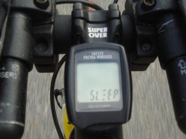 during 1 of my rides ! meter says SLEEP !