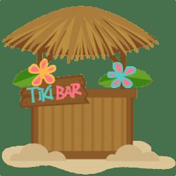 tiki bar clipart hut clip hawaiian beach luau svg cute cliparts tropical hawaii line party transparent background misskatecuttables kate miss