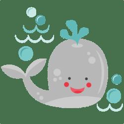 whale smiling clipart cute svg beach silhouette cricut file clip cut animals svgs ocean cuts kate miss sea digital misskatecuttables