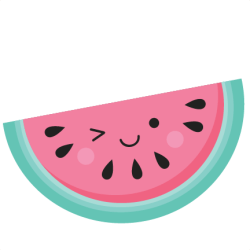 watermelon cute clipart clip svg summer drawings silhouette background misskatecuttables fruit border cuttables kate cut drawing cartoon painting party clipground