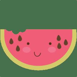 watermelon cute svg food summer clip clipart slice svgs shopping sweet cart misskatecuttables digital cutting machines