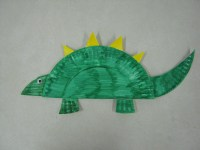 dinosaur paper plate craft