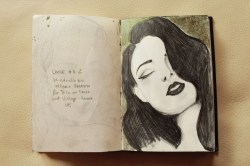 Dita von Teese-Old drawing from last year. Golden background touch up. I drew her in Switzerland, I think