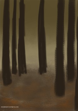 Rough sketching of the trees