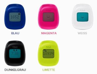Farbauswahl fitbit Zip