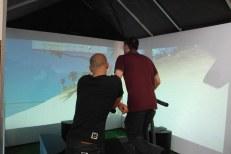 Cooles Laufband mit virtueller Umgebung. Das hat mich sehr beeindruckt!