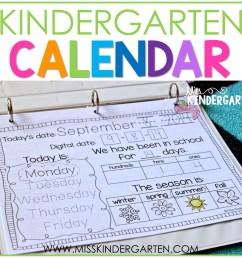 Calendar Time in Kindergarten - Miss Kindergarten [ 1200 x 1200 Pixel ]