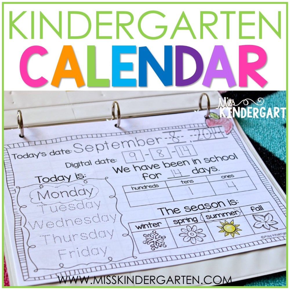 medium resolution of Calendar Time in Kindergarten - Miss Kindergarten