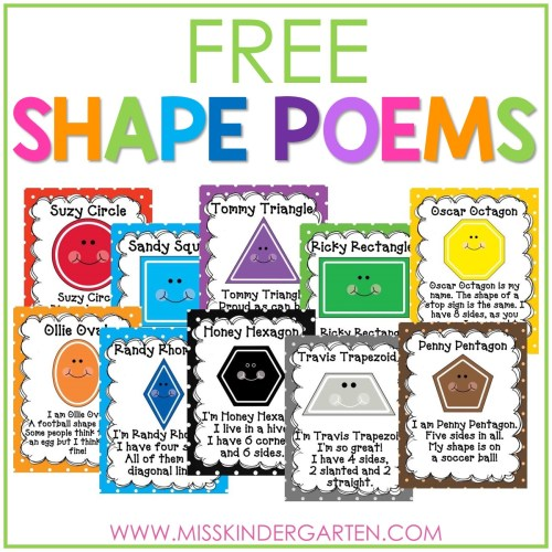 small resolution of 2D Shape Poems Free Download - Miss Kindergarten