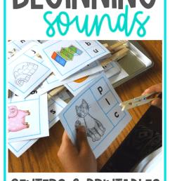 Beginning Sounds Worksheets and Activities - Miss Kindergarten [ 1102 x 735 Pixel ]