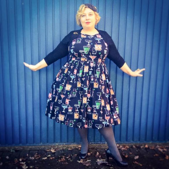 Miss Kittenheel vintage plussize style GermanCurves Schwung 2016 NYE LindyBop Audrey Cocktails