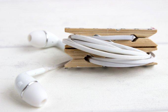 DIY Kabel-Klammer gegen Kabelsalat