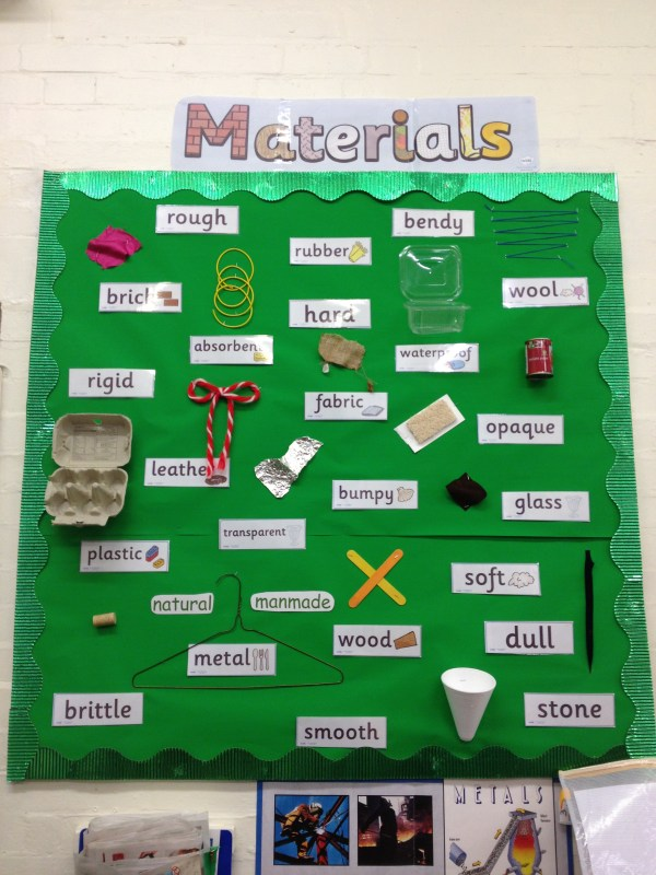 Materials Display Lavery' Classroom