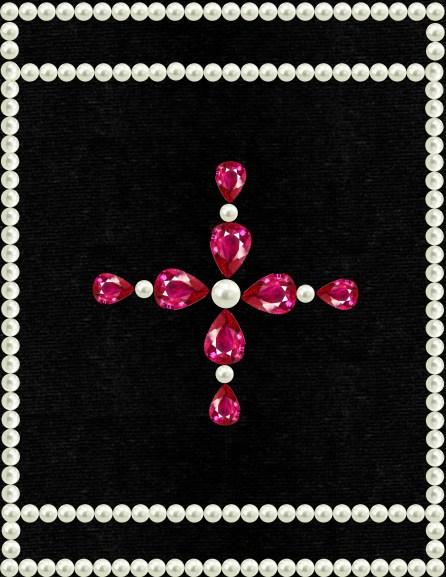 velour noir perles