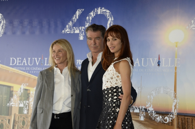 Pierce Brosnan and Olga Kurylenko