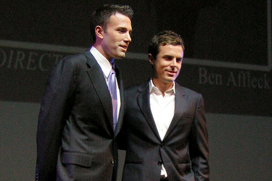 The brothers Ben and Casey Affleck