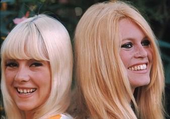 Sylvie Vartan and Brigitte Bardot