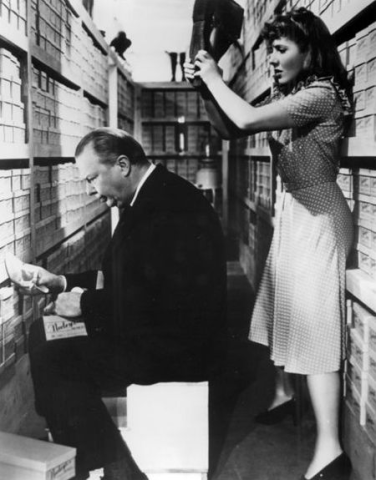 Jean Arthur and Charles Coburn from The Devil and Miss Jones - 1941.