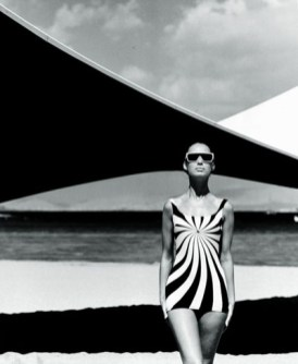 "Photo by F.C. Gundlach, ""Op art badeanzug von sinz"" (1966)"