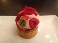 Delicious raspberry pastry
