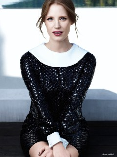 Jessica Chastain for Saint Laurent