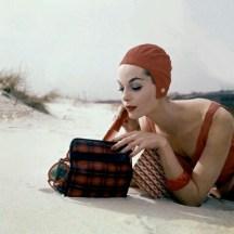 Model on the beach, 1955