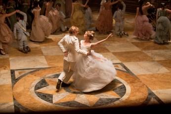 Aaron Taylor-Johnson as Vronsky and Alicia Vikander as Princess Kitty