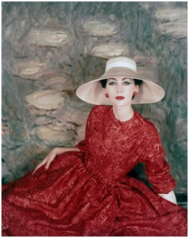 a-model-wearing-a-dress-and-wide-brimmed-hat-by-dior-1956-b1