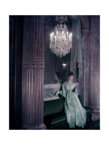 henry-clarke-model-in-gold-embroidered-turquoise-lanvin-castillo-dress-in-the-theater-of-king-louis-xv