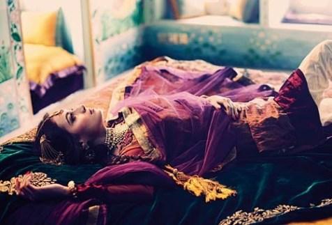 Dia Mirza as Pakeezah's Meena Kumari for Harper's Bazaar