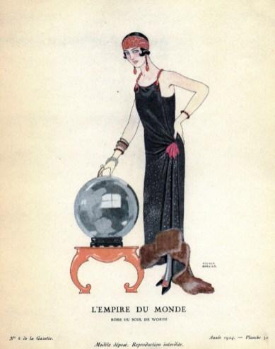 L'Empire du monde, evening gown by Worth, Gazette du Bon Ton 1924