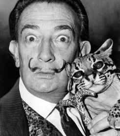 Dalì and his cat