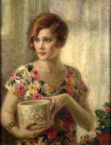 flapper-girl-in-flowered-dress-by-edna-crompton