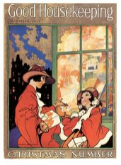 window-shopping-at-christmas-by-charles-robinson-good-housekeeping-magazine-cover-december-1925
