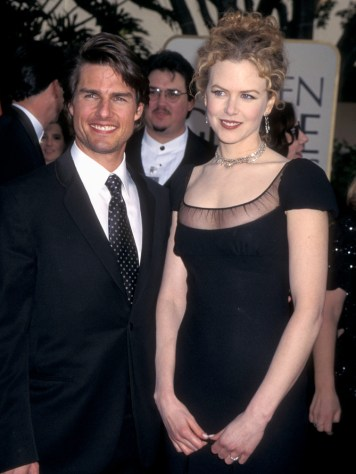 Actor Tom Cruise and actress Nicole Kidman attend the 54th Annual Golden Globe Awards on January 19, 1997 at Beverly Hilton Hotel in Beverly Hills, California. (Photo by Ron Galella, Ltd./WireImage)