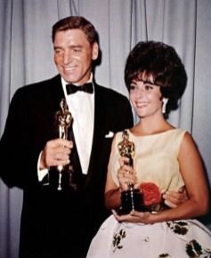 Burt Lancaster and Elizabeth Taylor