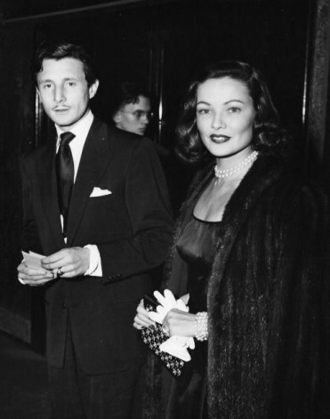 Gene Tierney and her husband