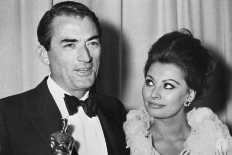 Gregory Peck and Sophia Lauren