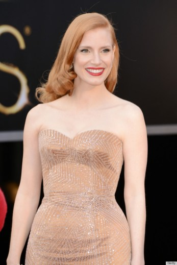 Jessica Chastain wearing Alexander McQueen in 2013