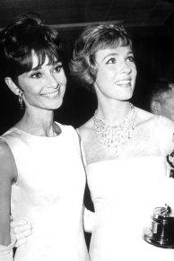 Audrey Hepburn and Julie Andrews